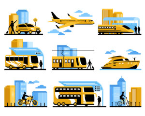 different types of transportation _ Verkehrsmittel