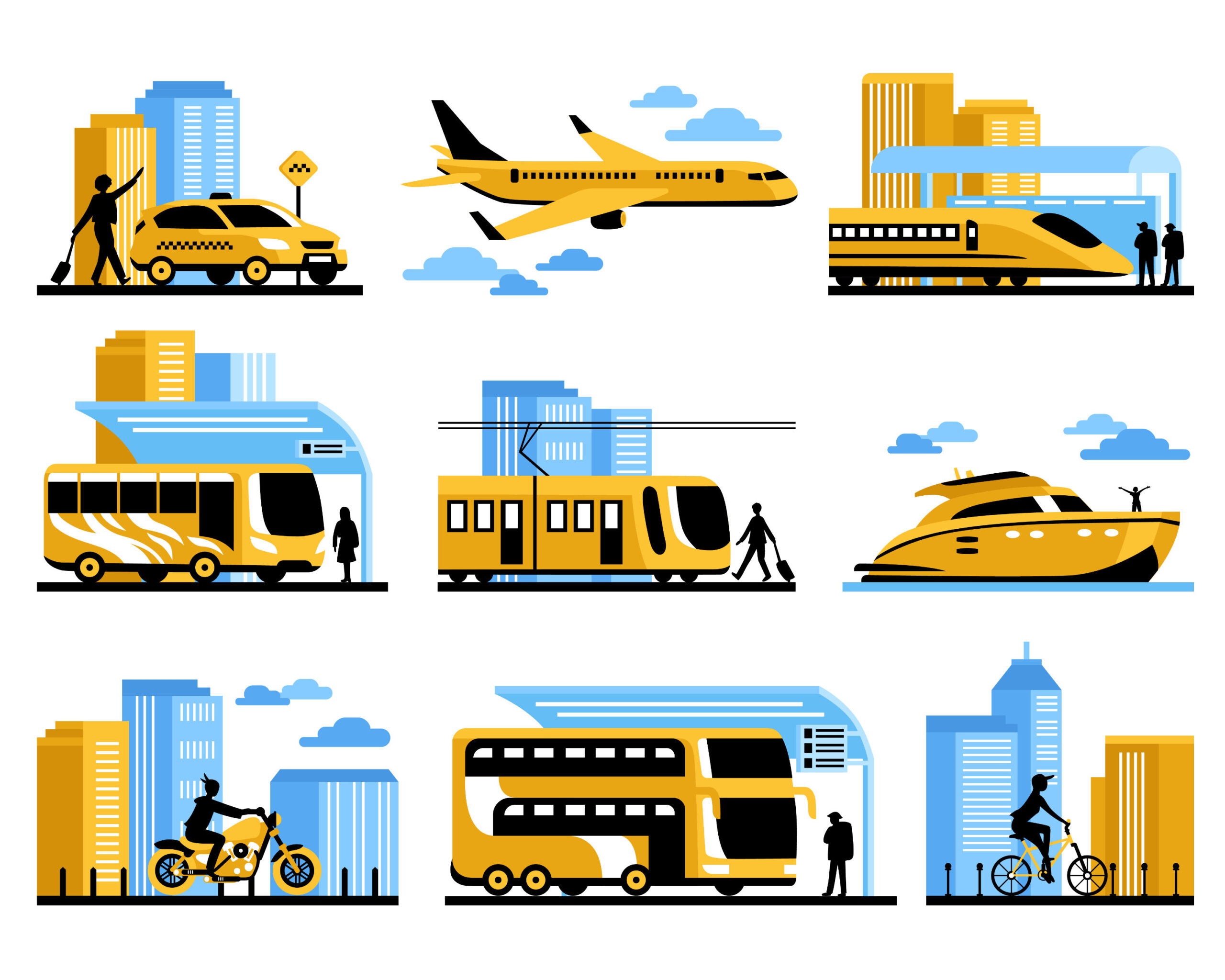 different types of transportation _ Verkehrsmittel