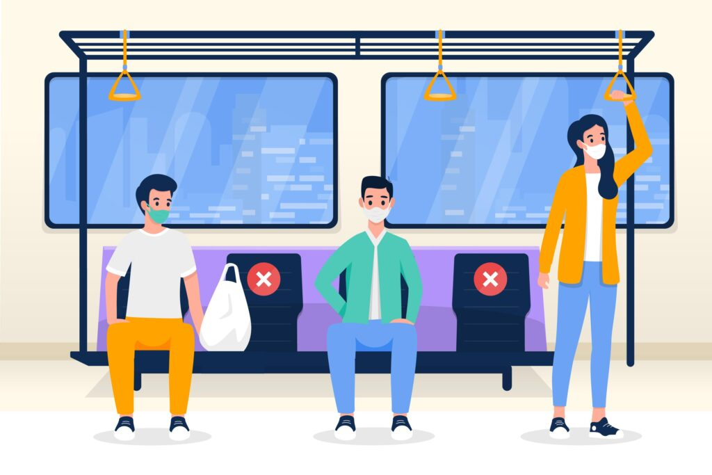 Social Distancing in public transport