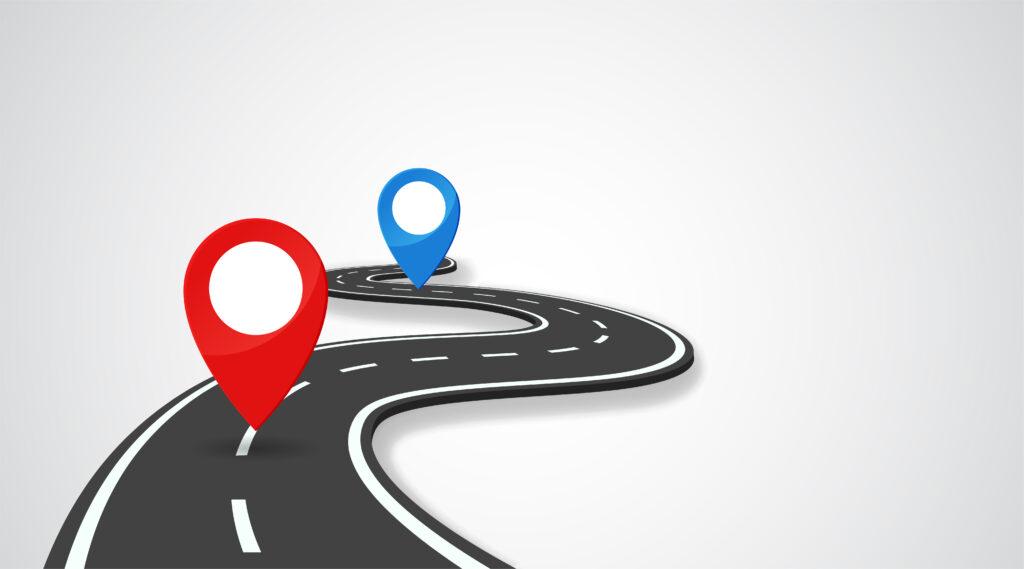 Reise von A nach B, Startpunkt und Ziel der Reise